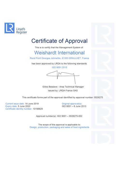 Weishardt International / France